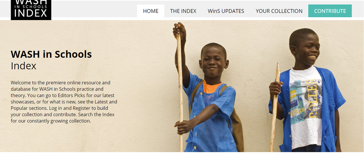New Online Database of WASH in Schools Best Practices and Materials